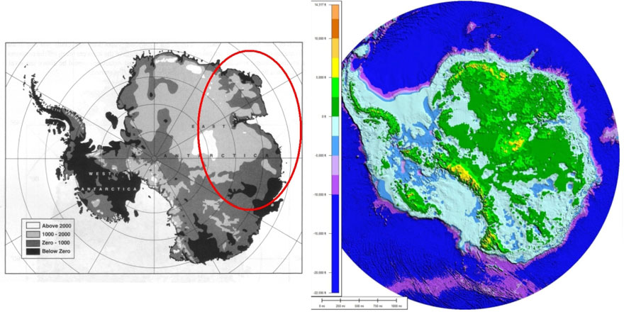 Bedrock elevation maps of Antarctica