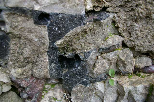 Vitrified wall at Sainte Suzanne, France